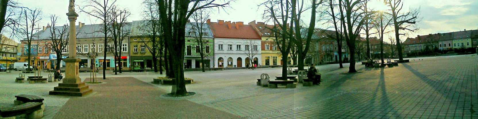 Zdjęcie rynku w Jaśle